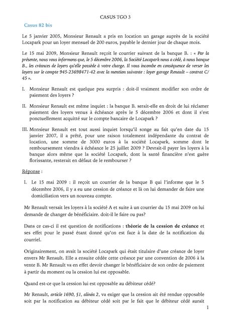 Casus TGO 3 - Droit des obligations et des contrats - ULiège ...