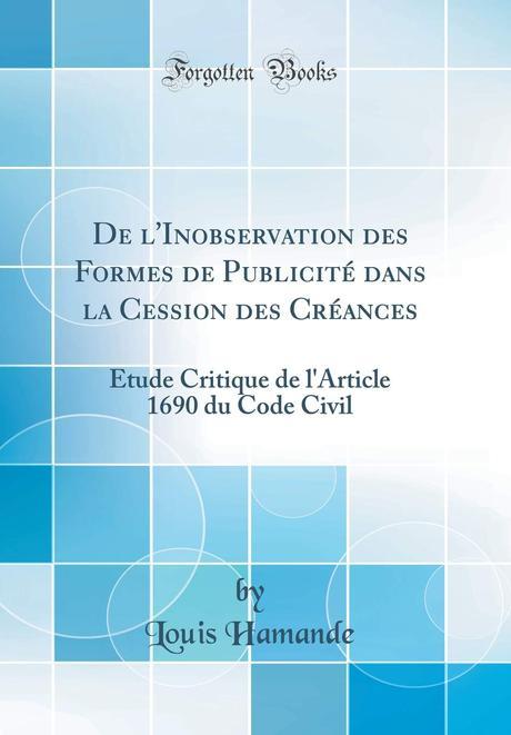 de l'Inobservation Des Formes de Publicité Dans La Cession ...