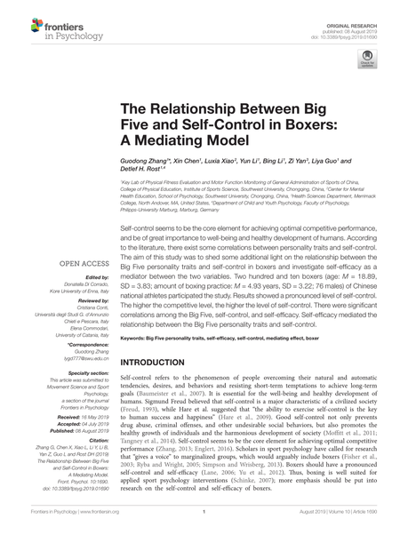 PDF) The Relationship Between Big Five and Self-Control in ...