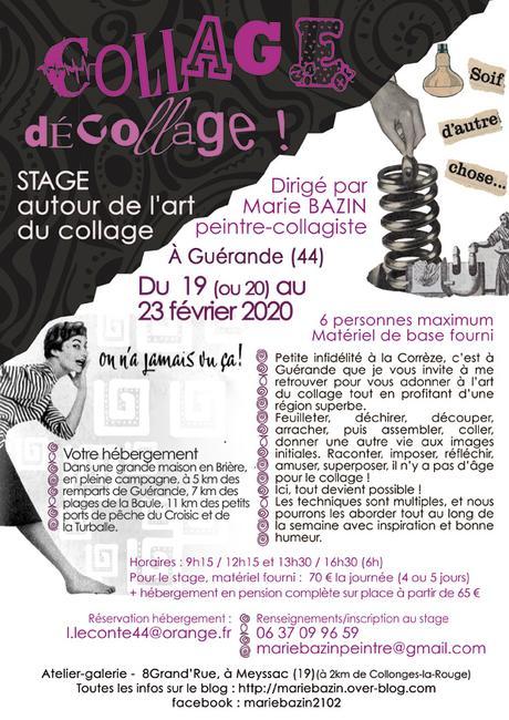 "Stage ""COLLAGE, décollage !"" à Guérande (44)"