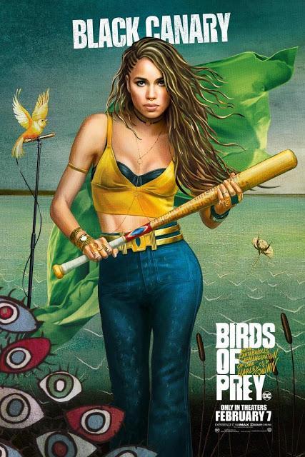 Affiches personnages US pour Birds of Prey de Cathy Yan