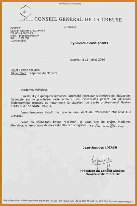 lettre de démission lycée   À Découvrir