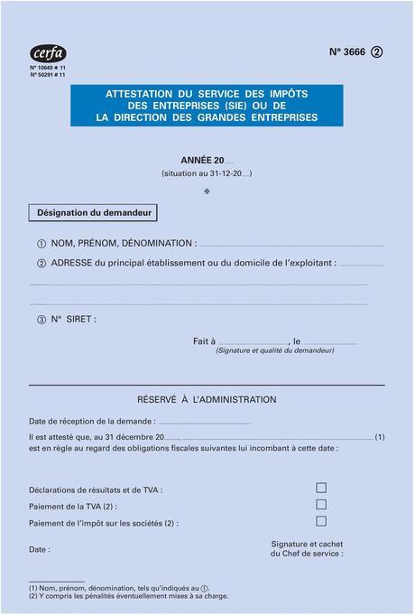 FISCALE TÉLÉCHARGER 3666 GRATUITEMENT ATTESTATION