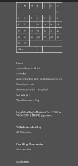 Comment rendre visible la colonne latérale WordPress