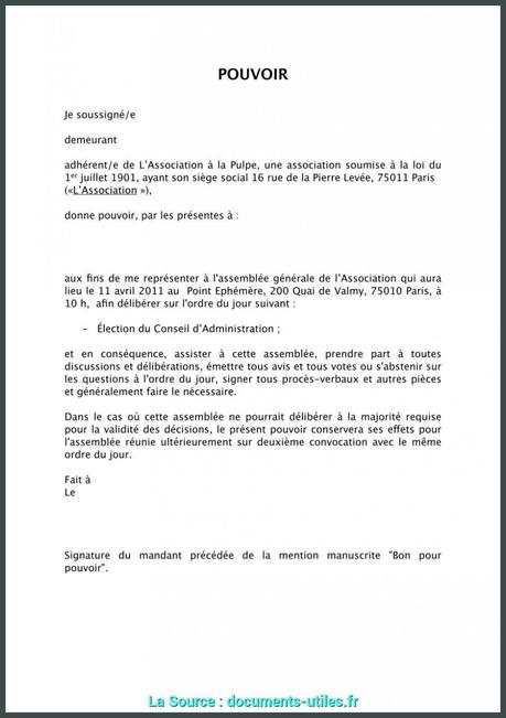 Procuration Retrait Colis Paperblog