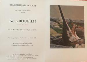 Galerie AD SOLEM Maximilien Choussy exposition Arno BOUEILH « Ocre de chair » 19/12 au 18/O1/2020