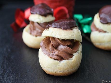Petits choux crème chocolat