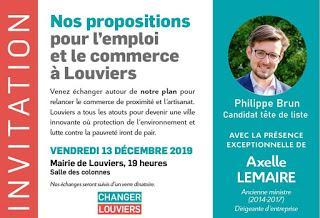 Axelle Lemaire à Louviers le 13 décembre aux côtés de Philippe Brun