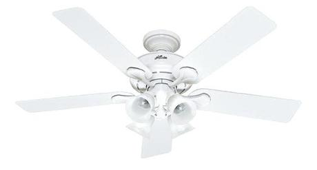 hunter 52 inch ceiling fan hunter 52 savoy white ceiling fan
