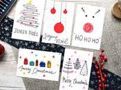 Cartes Noël simples rapides