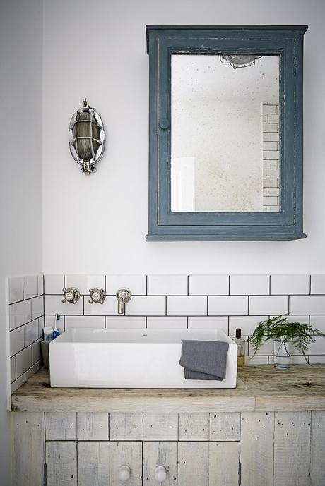 salle de bain vintage retro rustique - blog déco - clem around the corner