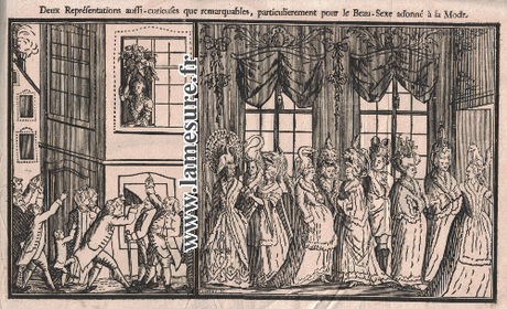 Hautes coiffures féminines de 1778