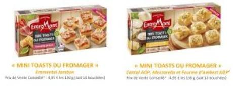 Entremont lance les «Mini toasts du fromager»