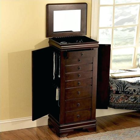 powell jewelry armoire powell classic cherry jewelry armoire