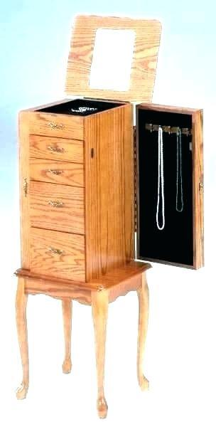 powell jewelry armoire powell 233 314 mirrored jewelry armoire with silver wood