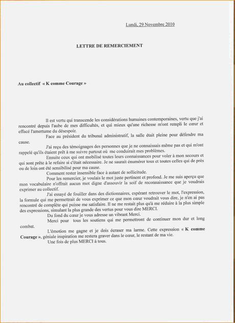 Exemple Lettre De Remerciement Paperblog