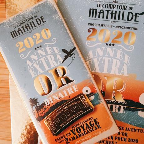 Fêtez la Nouvelle Année avec le chocolat Ticket d'or pour l'année 2020 de la boutique Le Comptoir de Mathilde
