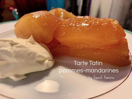 La tarte tatin pommes parfum mandarines