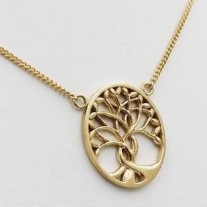 collier porte bonheur arbre de vie en or