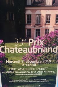 33me Prix Chateaubriand à la Vallée aux loups ce Mercredi 11 Décembre 2019