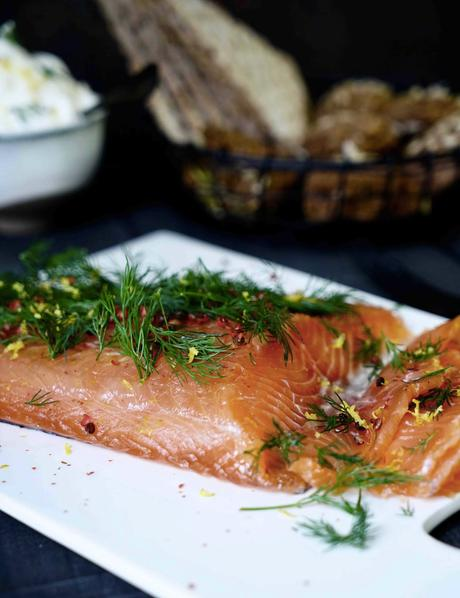 filet de saumon , entrée légère , cuisine de fêtes , recette pratique