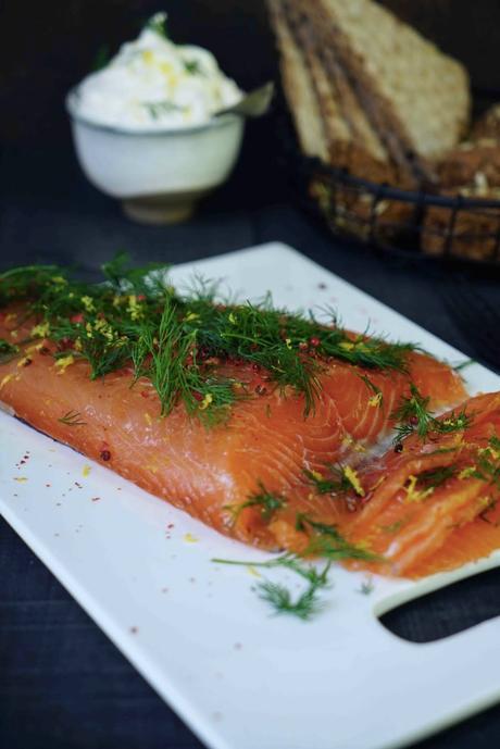 saumon mariné , recette scandinave , agrumes , diner léger