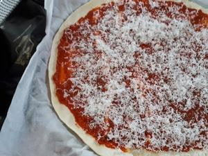 Sapin feuilleté à la crème de poivrons, tomate et carotte