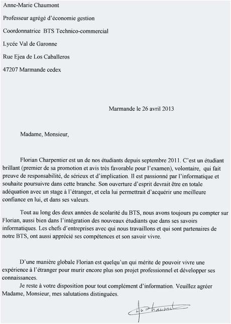 Exemple De Lettre De Motivation Pour Un Emploi De Femme De ...