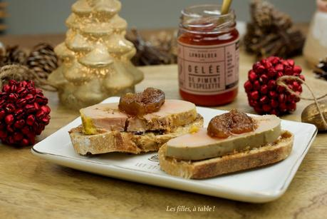Foie gras mi-cuit et figues confites