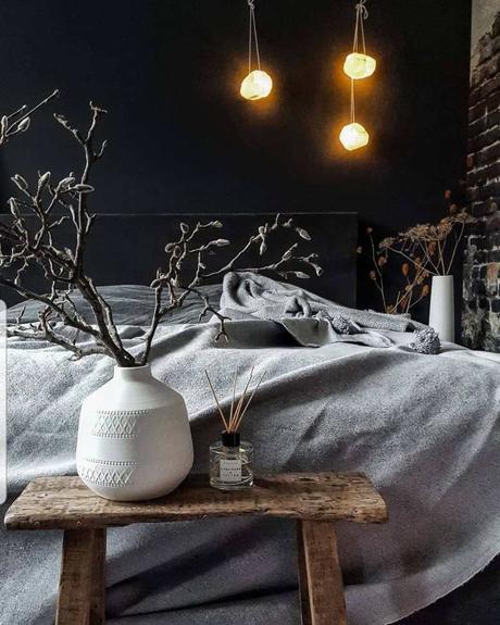 blog déco lampe papier kraft chambre industrielle rustique banc bois