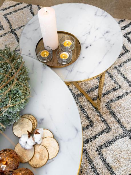 Une table de Noël poétique