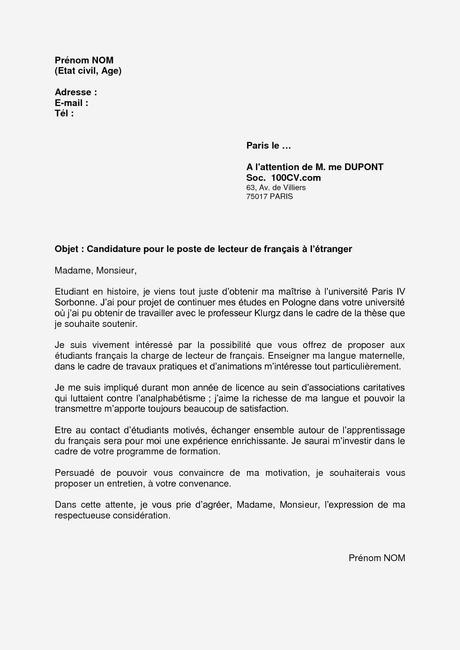 Lettre De Motivation Licence Droit Paperblog