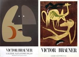 Victor Brauner à la galerie Alexandre Iolas, affiches 1948 et 1965