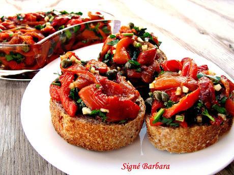 Salade de poivrons rôtis