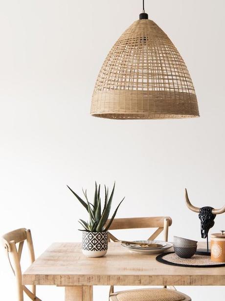 salle à manger blanc bois style ethnique bohème scandinave déco clemaroundthecorner