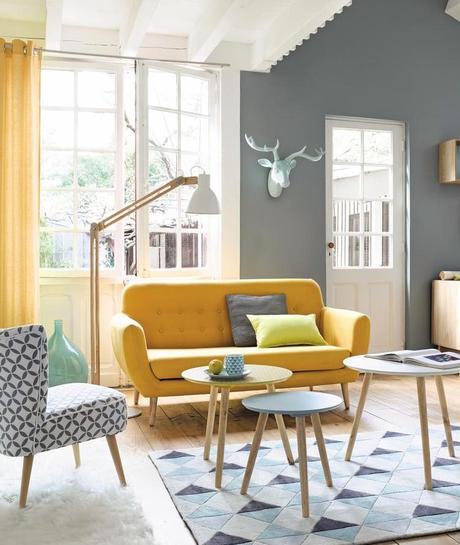 tendance déco scandinave canapé jeune vintage fauteuil motifs géométriques clemaroundthecorner