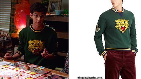 HIGH SCHOOL MUSICAL : THE MUSICAL : THE SERIES : Carlos's tiger print sweatshirt in S1E07