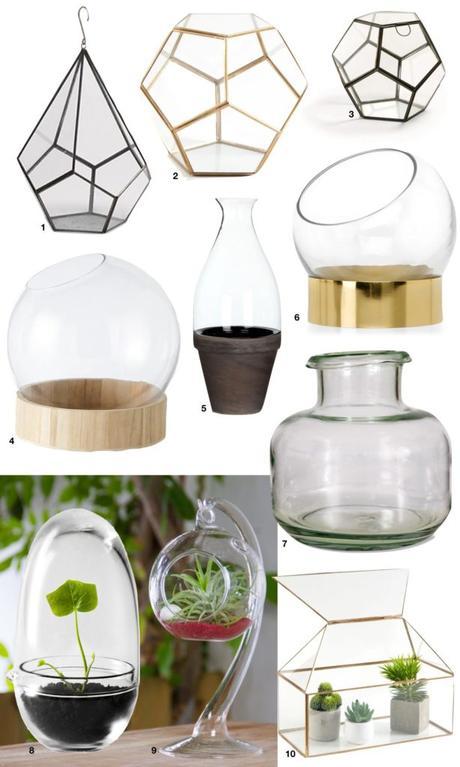 DIY terrarium tutoriel flacon original bulle hexagone vitrine - blog déco - Clem around the corner