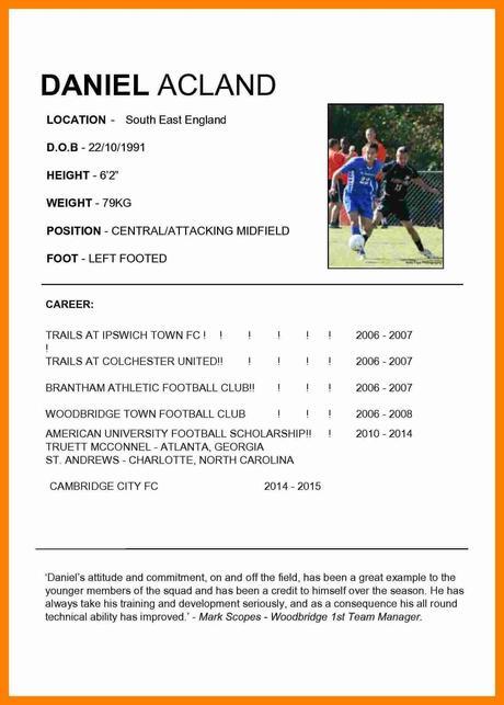 Cv Footballeur Paperblog
