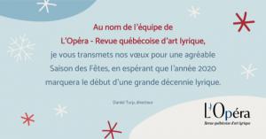 Hommage à Vienne- Le Concert du Nouvel An à Québec et Montréal, un bilan de l'année  2019 et des voeux pour une année…