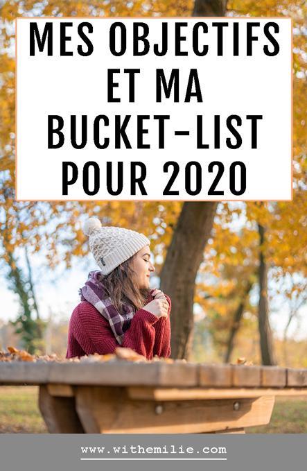 Mes objectifs et ma bucket list pour 2020