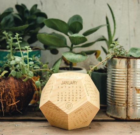 calendrier 2020 original forme géométrique bois blog déco