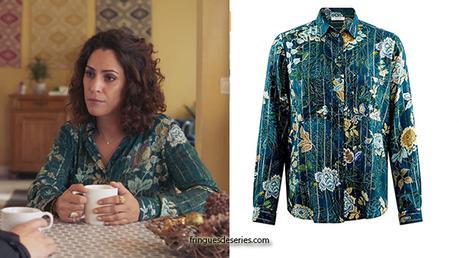 DEMAIN NOUS APPARTIENT : la chemise à fleurs de Leila dans l'épisode 625