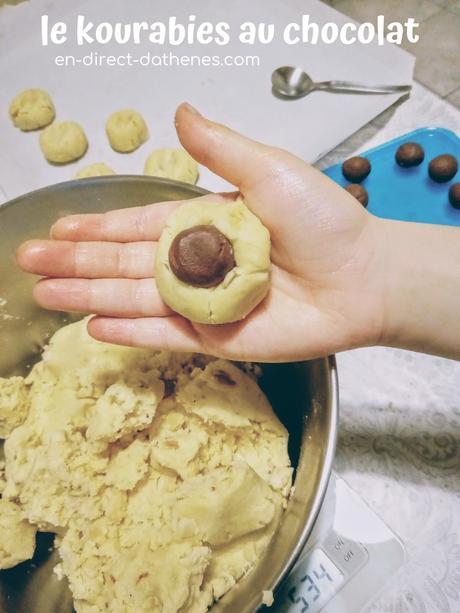 Le kourabies des gourmands parce qu'il y a du chocolat dedans et qu'en plus il est géant