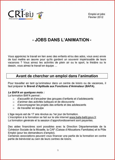 Lettre De Motivation Stage Bafa Paperblog