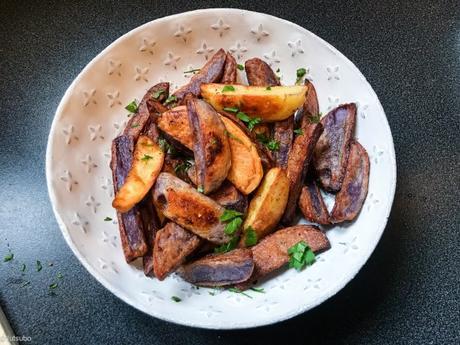Violettes et au four – Frites de pommes de terre bleues d'Artois