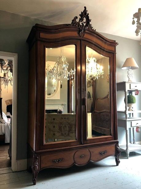 large armoire large jewelry armoire with mirror