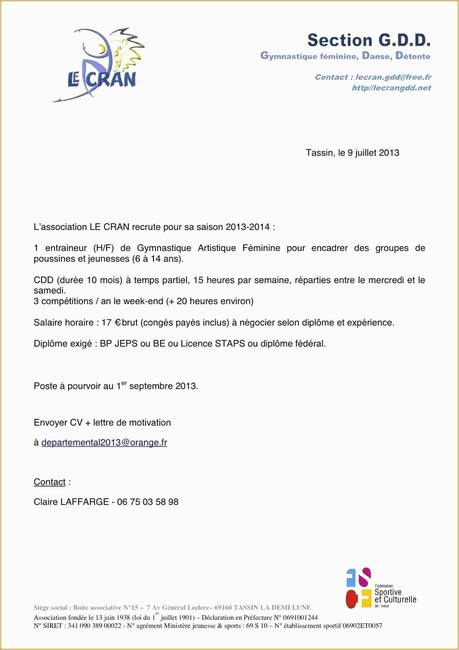 Exemple Cv Coach Sportif BOS36 - Napanonprofits
