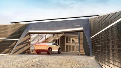 Cyberhouse :  la maison anti-zombie inspirée du Cybertruck Tesla
