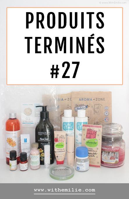 Empties #27 : Mes produits terminés de l'hiver